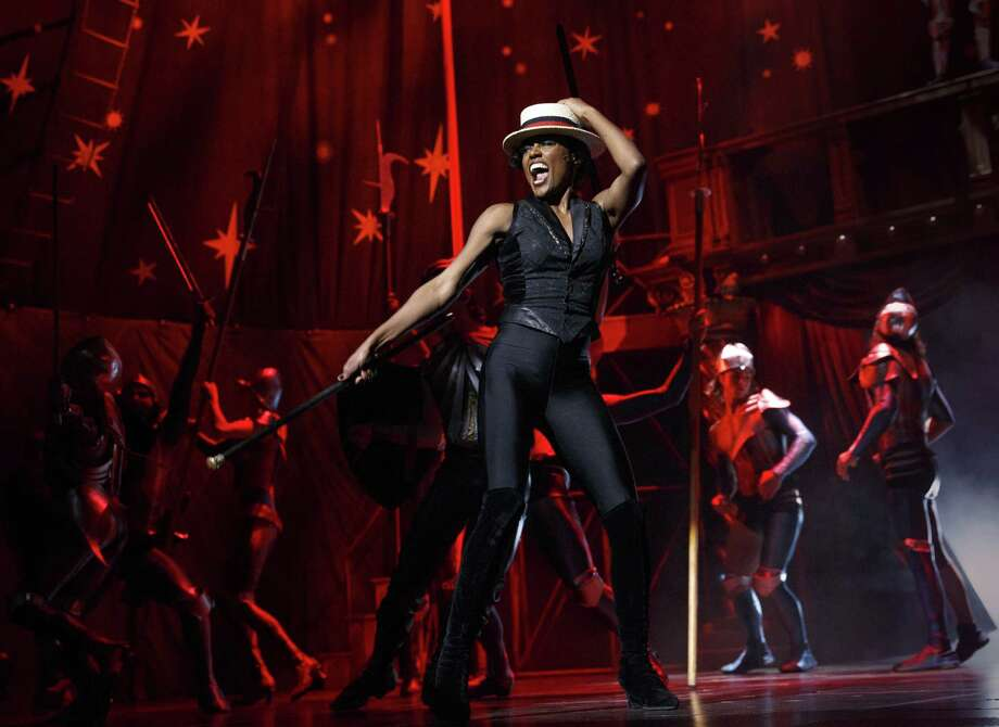 "This theater image released by Boneau/Bryan-Brown shows Patina Miller during a performance of ""Pippin,"" at Broadway's Music Box Theatre in New York. Producers of the Tony Award-nominated show said Wednesday, May 15, 2013, that a national tour will kick off in September 2014 at the Buell Theatre in Denver.  (AP Photo/Boneau/Bryan-Brown, Joan Marcus) Photo: Joan Marcus"