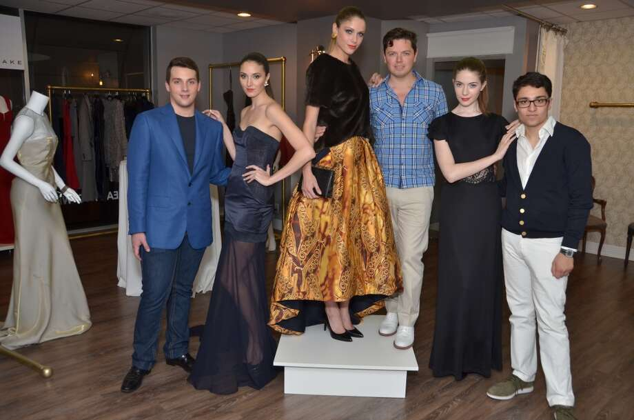 L to R: Designers Jonathan Blake, David Peck and Amir Taghi with models