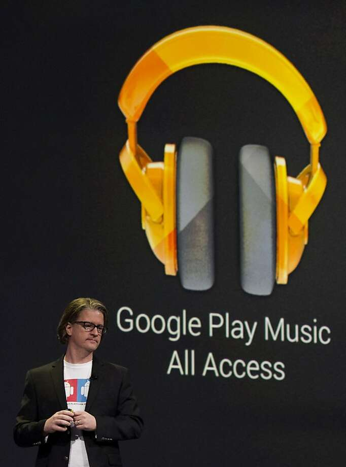 Chris Yerga, engineering director for Android at Google Inc., pauses while speaking at the Google I/O Annual Developers Conference in San Francisco, California, U.S., on Wednesday, May 15, 2013. Google Inc. introduced a subscription music-streaming service, one of several product updates to be unveiled at a developer meeting this week as the search provider seeks to attract more users and advertisers. Photo: David Paul Morris, Bloomberg