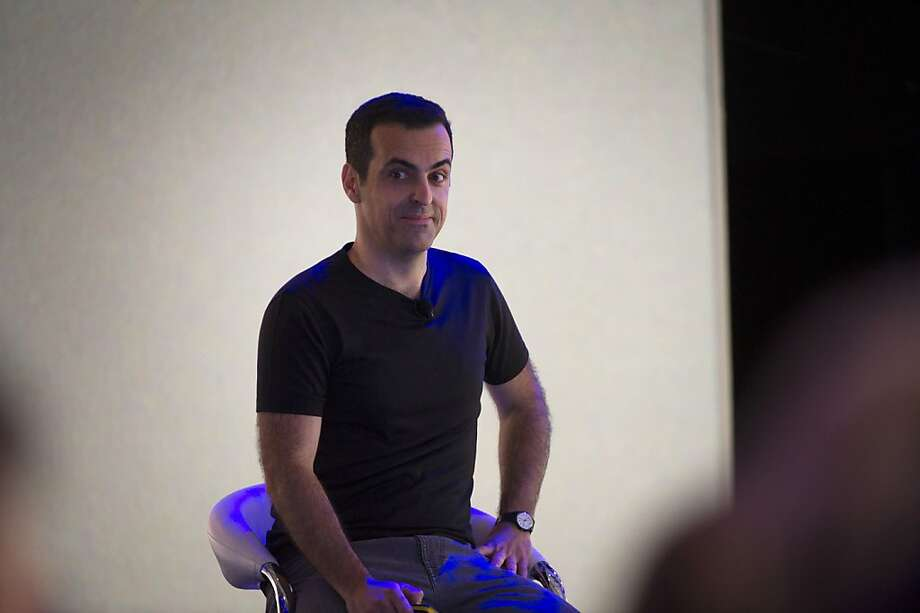 Hugo Barra, vice president of product management for Android at Google Inc., pauses while speaking at the Google I/O Annual Developers Conference in San Francisco, California, U.S., on Wednesday, May 15, 2013. Google Inc. introduced a subscription music-streaming service, one of several product updates to be unveiled at a developer meeting this week as the search provider seeks to attract more users and advertisers. Photo: David Paul Morris, Bloomberg
