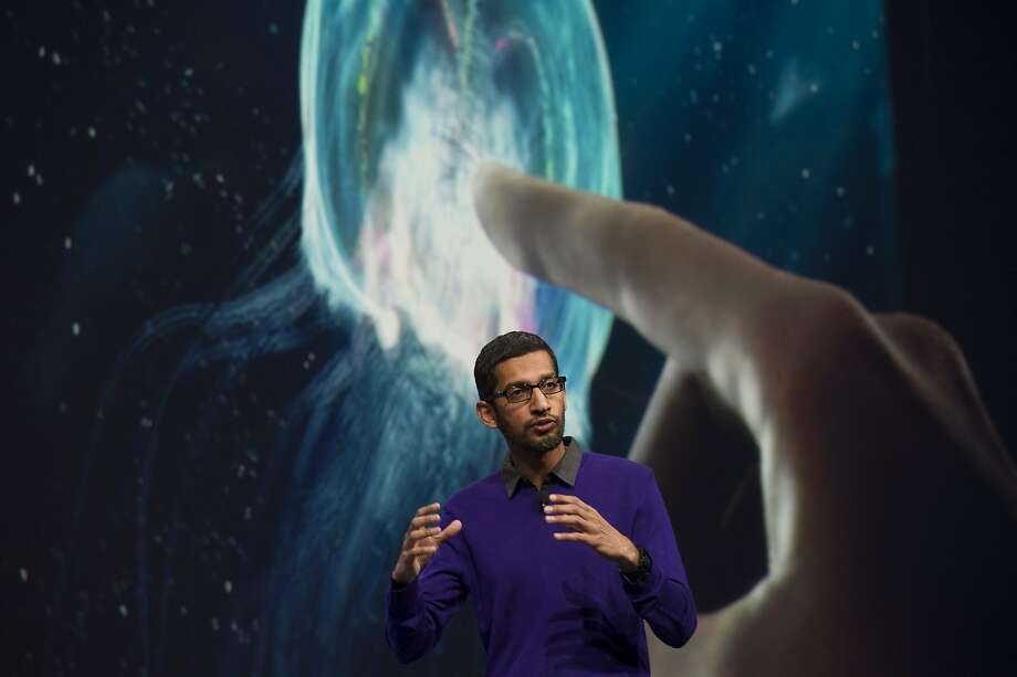 Sundar Pichai, senior vice president of products for Google under the old structure, will be CEO of Google, while other Google executives will take on leadership roles in Alphabet. He's shown at an event in San Francisco in 2013. Photo: David Paul Morris, Bloomberg