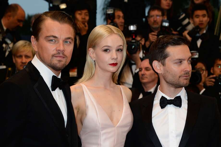 (L-R) Leonardo DiCaprio, Carey Mulligan and Tobey Maguire attend the Opening Ceremony and 'The Great Gatsby' Premiere during the 66th Annual Cannes Film Festival at the Theatre Lumiere on May 15, 2013 in Cannes, France.  (Photo by Pascal Le Segretain/Getty Images)