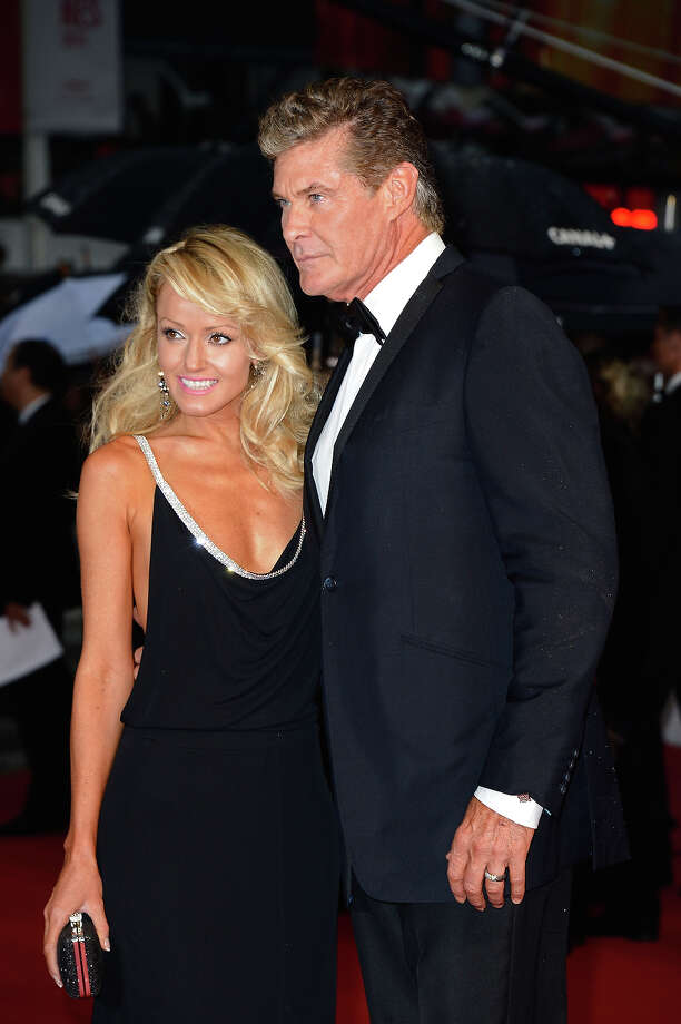(L-R) Hayley Roberts and David Hasselhoff attend the Opening Ceremony and 'The Great Gatsby' Premiere during the 66th Annual Cannes Film Festival at the Theatre Lumiere on May 15, 2013 in Cannes, France. Photo: Pascal Le Segretain, Getty Images / 2013 Getty Images