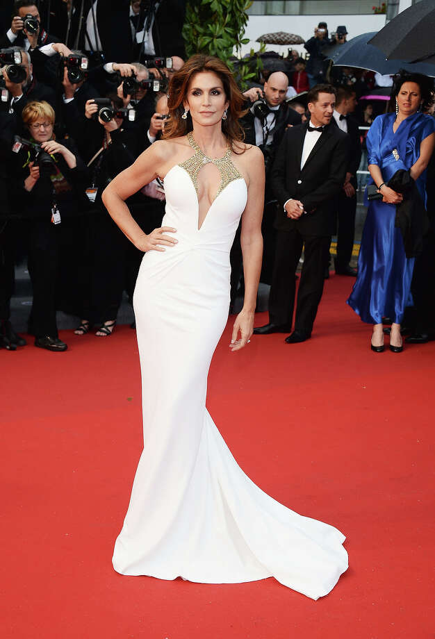 Model Cindy Crawford attends the Opening Ceremony and premiere of 'The Great Gatsby' during the 66th Annual Cannes Film Festival at Palais des Festivals on May 15, 2013 in Cannes, France. Photo: Venturelli, WireImage / 2013 Venturelli