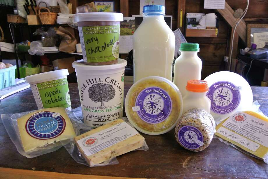 A selection of artisan products showcases our local dairy industry's best work at Mildred's Meadows in Duanesburg. (Deanna Fox)