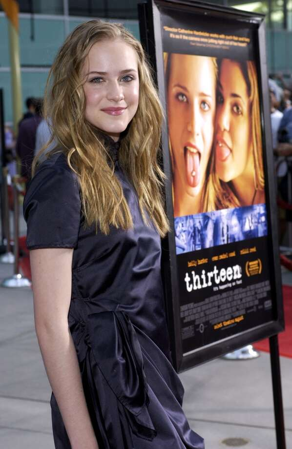 "First up: Evan Rachel Wood turned 15 during the filming. ""Thirteen"" became her big break as a serious actor, garnering Wood Golden Globe and Screen Actors Guild nominations. Her career has been steady since then, certainly. Here she is during Los Angeles Premiere for ""thirteen"" in Hollywood, California, United States."