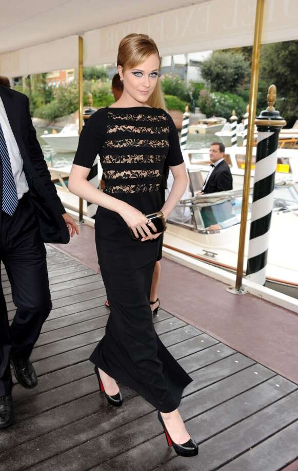 Wood arrives during the 68th Venice International Film Festival in 2011.