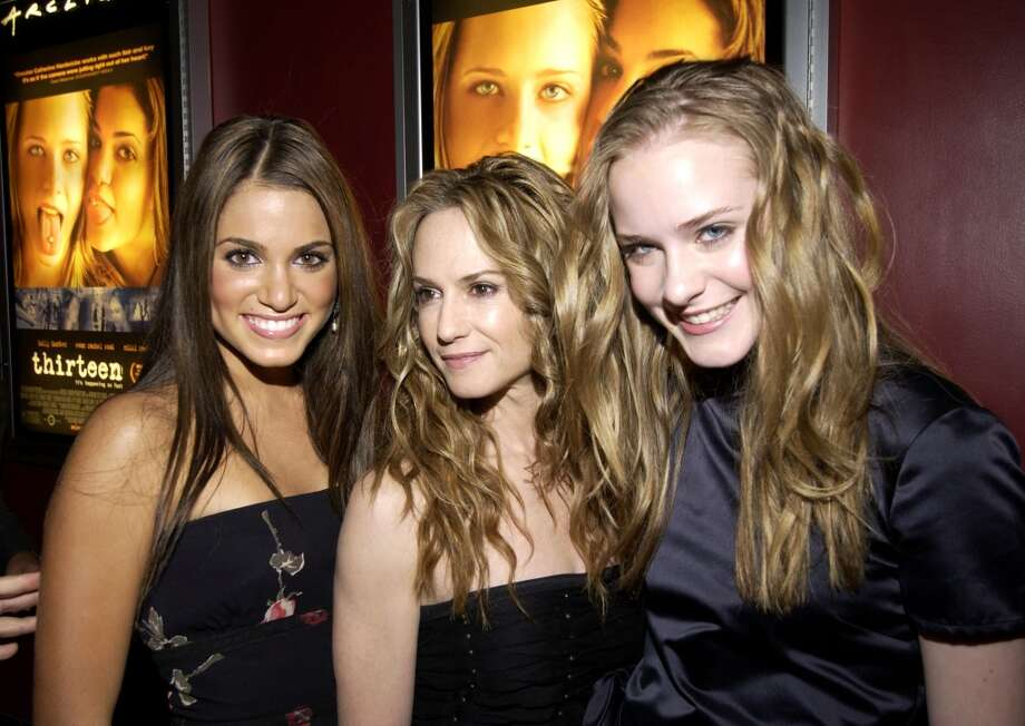 Co-star & co-writer Nikki Reed, Holly Hunter and Evan Rachel Wood (Photo by L. Cohen/WireImage)
