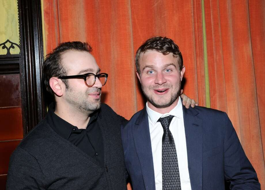 "Brady Corbet (R) attends the ""Simon Killer"" New York premiere in 2013."