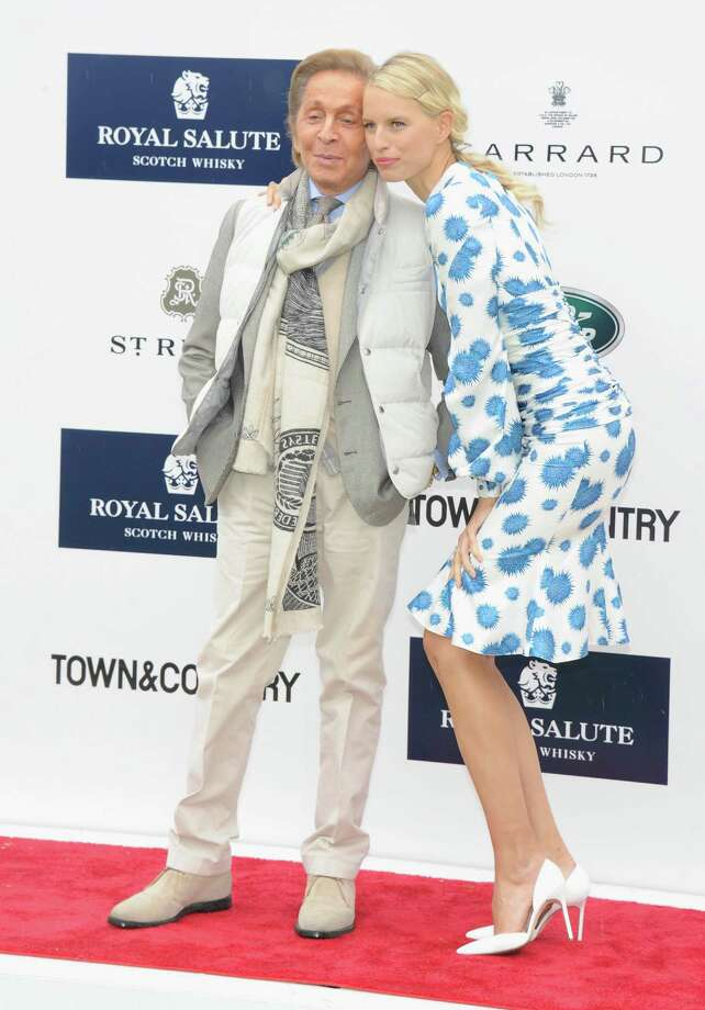 GREENWICH, CT - MAY 15:  Designer Valentino Garavani and Model Karolina Kurkova attend the Sentebale Royal Salute Polo Cup during the sixth day of HRH Prince Harry's visit to the United States at Greenwich Polo Club on May 15, 2013 in Greenwich, Connecticut. HRH will be undertaking engagements on behalf of charities with which the Prince is closely associated on behalf also of HM Government, with a central theme of supporting injured service personnel from the UK and US forces.  (Photo by Jamie McCarthy/Getty Images) Photo: Jamie McCarthy, Getty Images / 2013 Getty Images