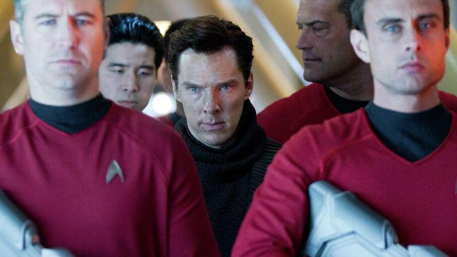 "Benedict Cumberbatch in ""Star Trek Into Darkness"" Photo: Paramount Pictures"