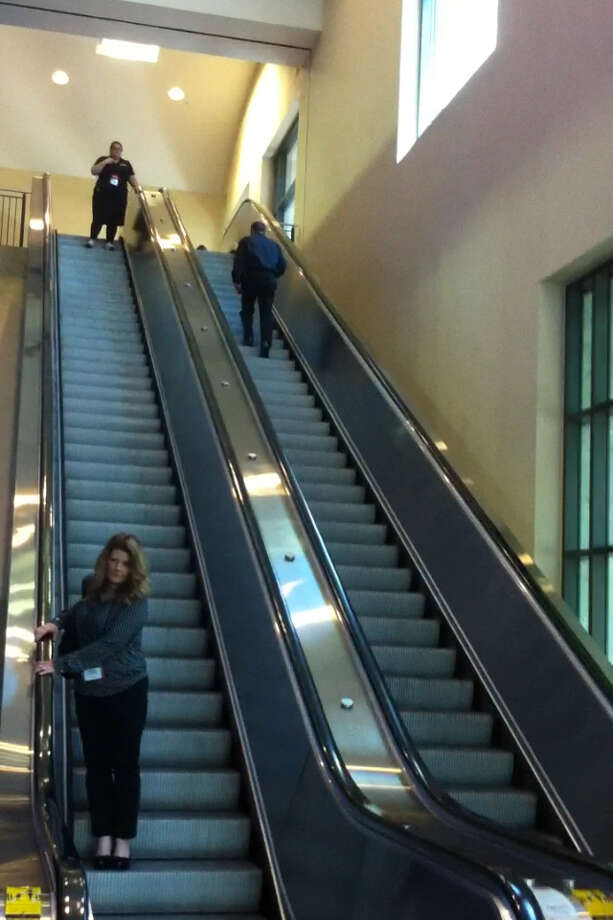 An escalator at the Convention Center is pictured Wednesday, May 15, 2013. Another escalator at the building in Exhibit Hall D malfunctioned that day, leaving 10 people hospitalized. Photo: Ana Ley / Express-News