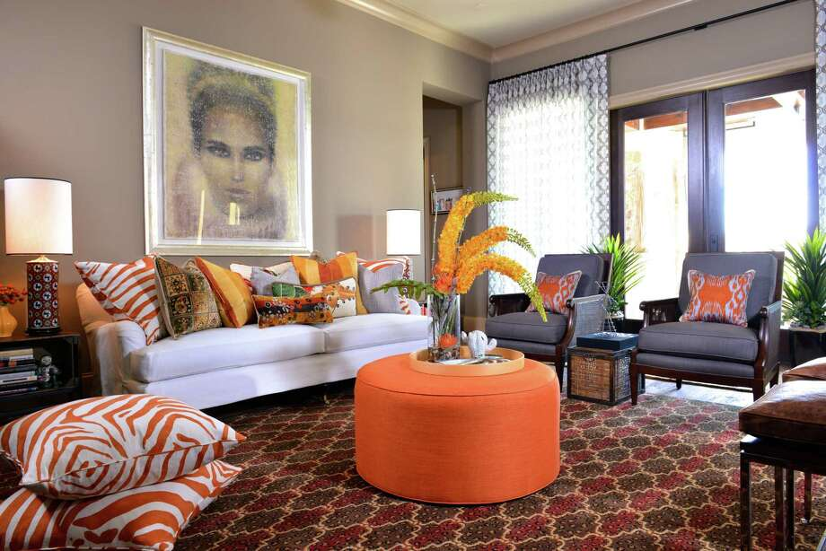 The family lounge in the ASID 2013 Show House, as designed by Blake Woods. Photo: Michael Hunter Photography
