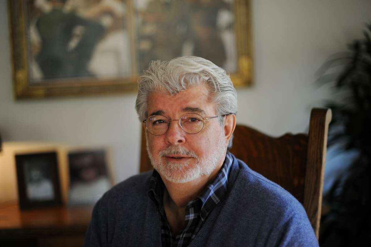 Film Director and Producer George Lucas at his office at Skywalker Ranch in Marin County, California. February 27, 2013.