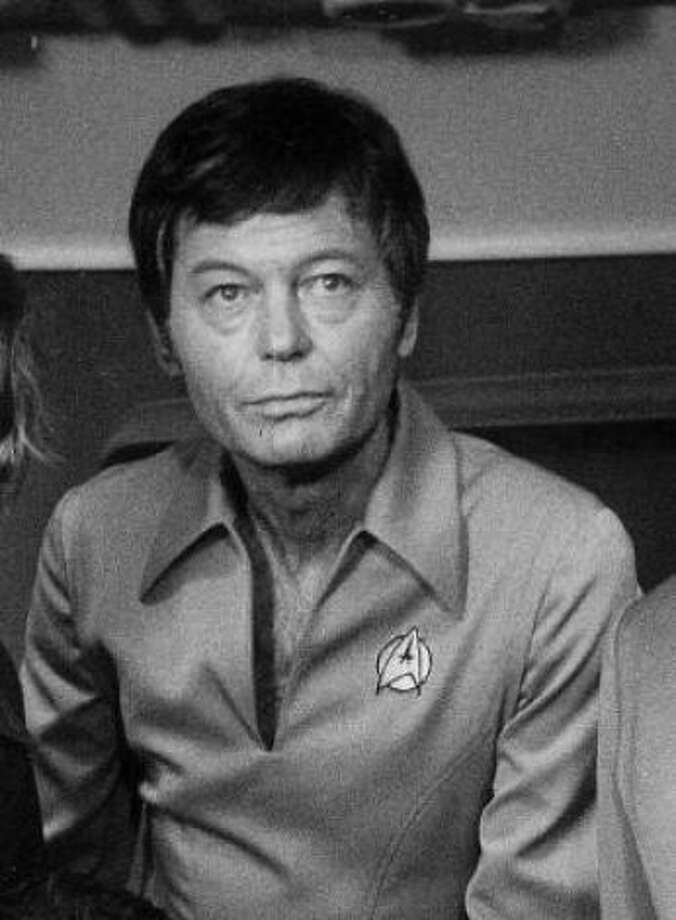 Star Trek's DeForest Kelley.