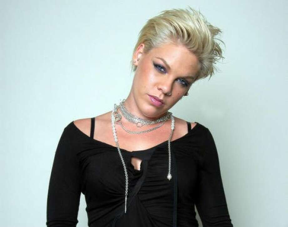 the short-haired American pop star P!NK.