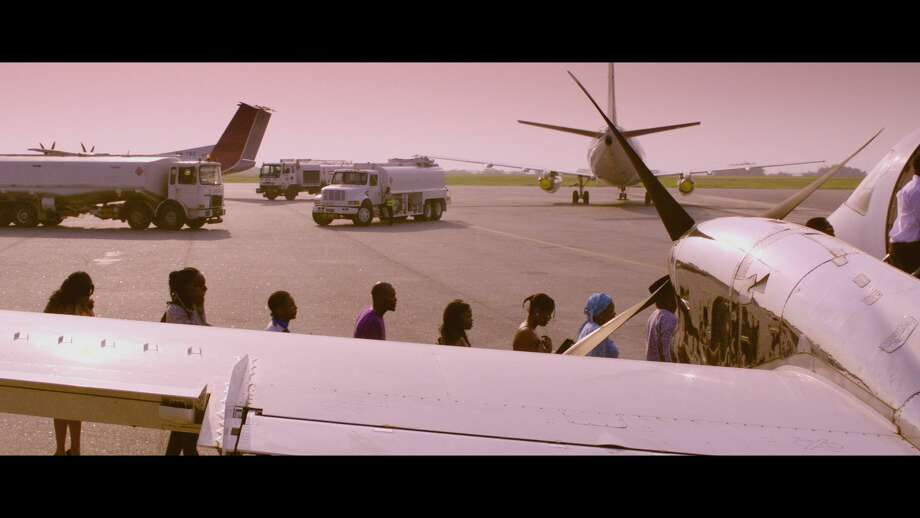 Last Flight to Abuja: An ill-fated flight provides the setting for this suspenseful multi-character pot-boiler filled with romance, blackmail, and murder in Obi Emelonye's Nollywood box-office smash.  North American Premiere  North American Premiere (d: Obi Emelonye c: Omotola Jalade-Ekeinde, Hakeem Kae-Kazim, Jim Iyke, Anthony Monjaro, Ali Nuhu, Nigeria/United Kingdom 2012, 78 min) Photo: Courtesy Photo