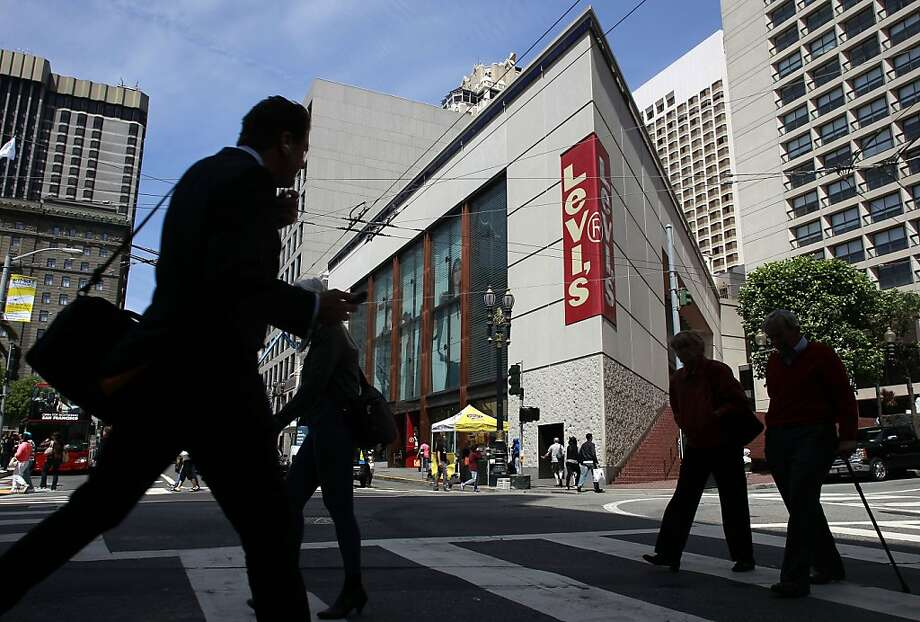 The current location of the Levi's store at Post and Stockton Streets in San Francisco, Calif., on Wednesday May 15, 2013, which Apple plans to relocate to. The high profile site sits on Northern side in Union Square. Photo: Michael Macor, The Chronicle