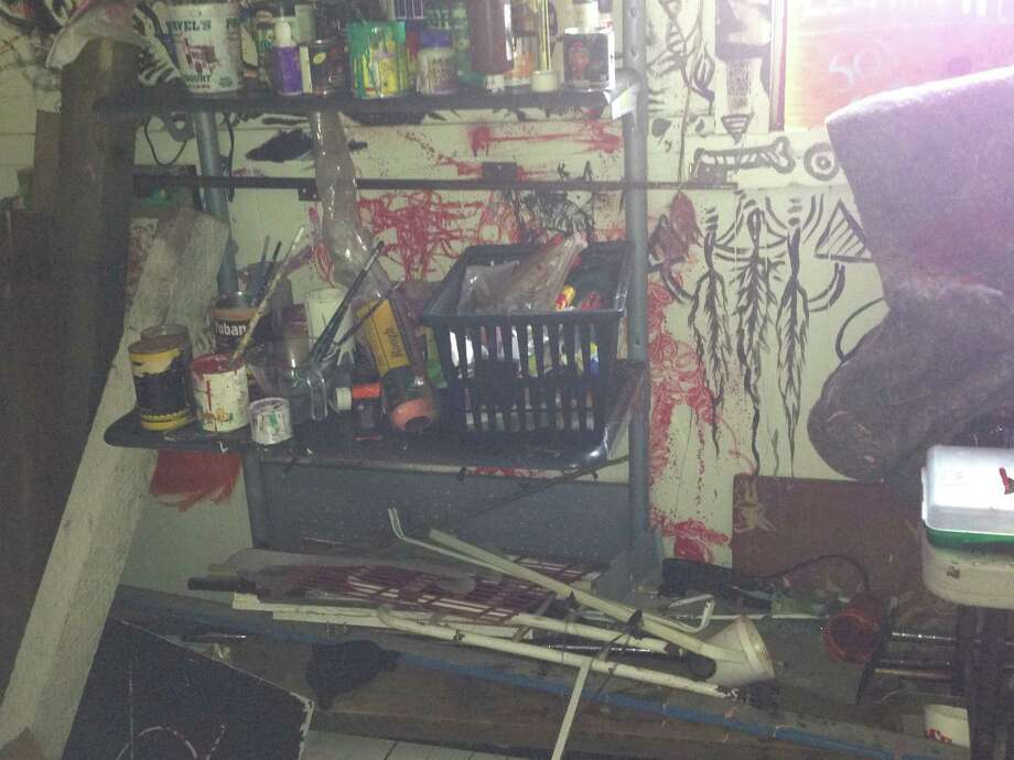 Items of the squatters inside the church. San Francisco police raided a group of homeless squatters at an abandonedchurch at Capitol Ave. and Broad St early Wednesday morning. Photo: Courtesy To The SF Gate