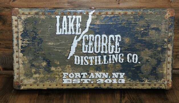 A sign on the floor leans against a wall at the Lake George Distilling Co. on Tuesday, May 14, 2013 in Fort Ann, N.Y. It's the first legal distillery in Washington County since Prohibition. John McDougall and his wife Robin just got a still and a mash tun installed and are going to be using local grains to make whiskey and vodka. (Lori Van Buren / Times Union) Photo: Lori Van Buren / 00022367A