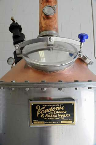 The still at the Lake George Distilling Co. on Tuesday, May 14, 2013 in Fort Ann, N.Y. It's the first legal distillery in Washington County since Prohibition. John McDougall and his wife Robin just got a still and a mash tun installed and are going to be using local grains to make whiskey and vodka. (Lori Van Buren / Times Union) Photo: Lori Van Buren / 00022367A
