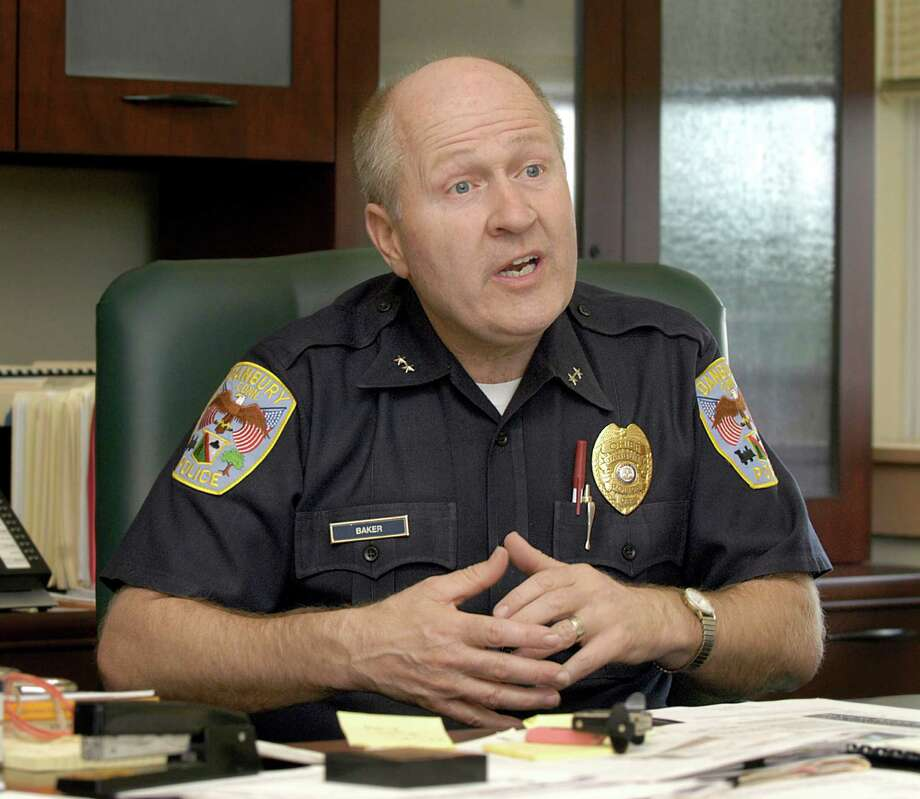 Danbury Police Chief Al Baker is shown in this file photo. Four Danbury police officers remain on administrative leave pending an internal investigation into alleged misconduct. Photo: Carol Kaliff