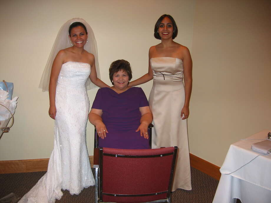 Diana Bernal: My children's names are Vanessa Smeberg, Adrianna Bernal & John Bernal. The picture is me with my daughters at Vanessa's wedding.   I knew I was a Mom when I Saw white milky splotches on my shirt   THAT BECAME MY SIGNATURE CLOTHING DESIGN I knew I was a Mom when I Saw a tantrum throwing child that couldn't be mine at HEB BUT I HAD TO CLAIM HIM ANYWAY I knew I was a Mom when I Saw the soft furry ears in the 100th place I looked AND YELLED YES! CAUSE I HAD FOUND MIMI!  I knew I was a Mom when I Saw the color of a pregnancy test at age 41  AND REALIZED THAT NOOO IT WASN'T MENOPAUSE  I knew I was a mom when I Saw 1, then 2, then 3 graduate from MEDICAL SCHOOL, LAW  SCHOOL, & CENTRAL And CRIED  I knew I was a mom when I Saw my daughter HOLD HER BABY IN HER ARM And CRIED   I knew I was a Mom when I Saw that no matter the tears and sleeplessness THE LOVE IS SO WORTH IT Photo: Diana Bernal