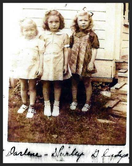 Taken in 1943, left to right: Darlene Tondre Glover, Shirley Meier Hengst and Gladys Tondre Clarke