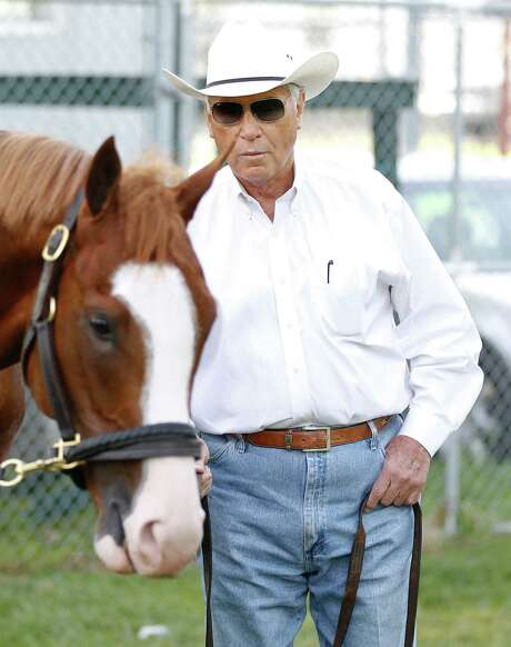 Trainer D. Wayne Lukas, still going strong at 77, has Will Take Charge and two other horses ready to run in Saturday's Preakness. Photo: Mark Cornelison, MBR / Lexington Herald-Leader