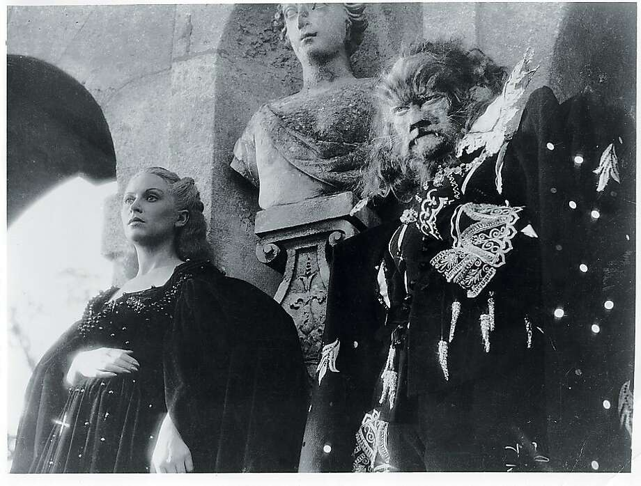 "Josette Day and Jean Marais in Jean Cocteau's ""Beauty and the Beast."" Photo: Pomegranate Arts"