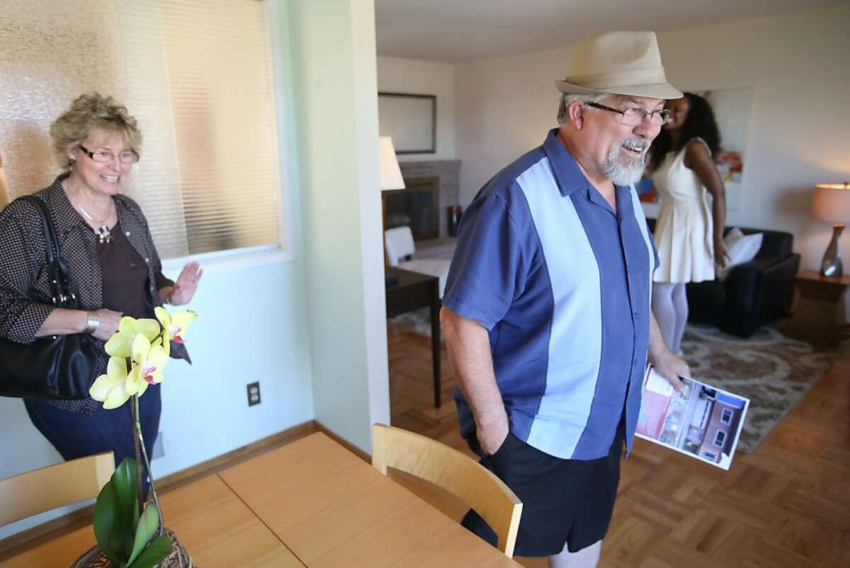 Steve and Jan Buchholz tour an open house for sale on Stanford Heights Ave. in San Francisco on Sunday, May 12, 2013.