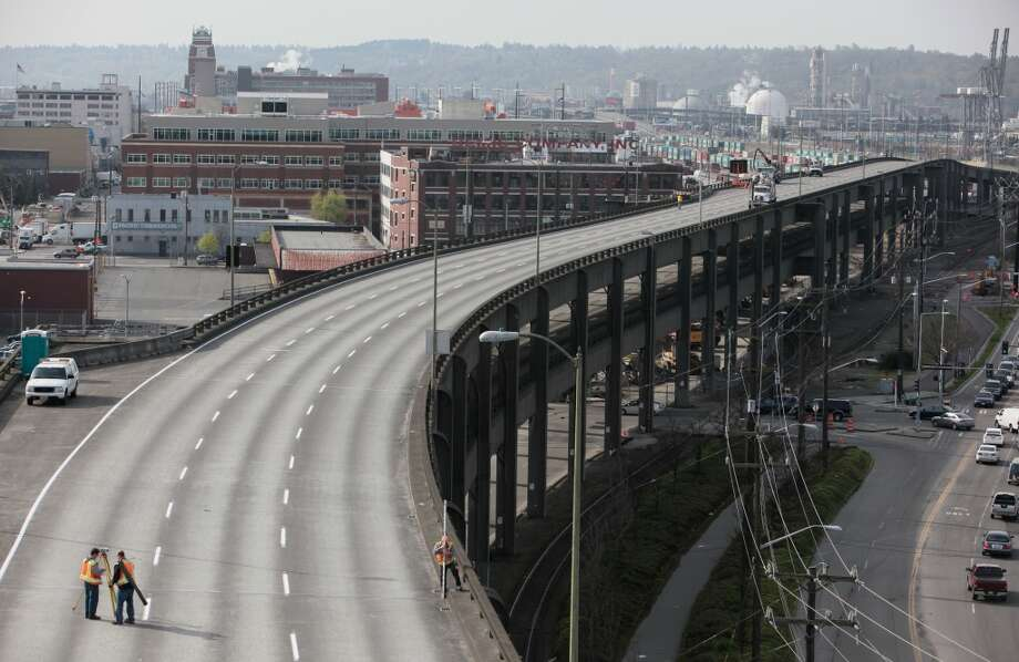 The Alaskan Way Viaduct is closed.