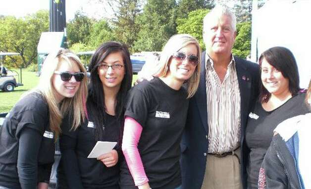 Students at the Paul Mitchell School in Schenectady with Mayor Jennings at the at the Making Strides Against Breast Cancer Walk in 2011.