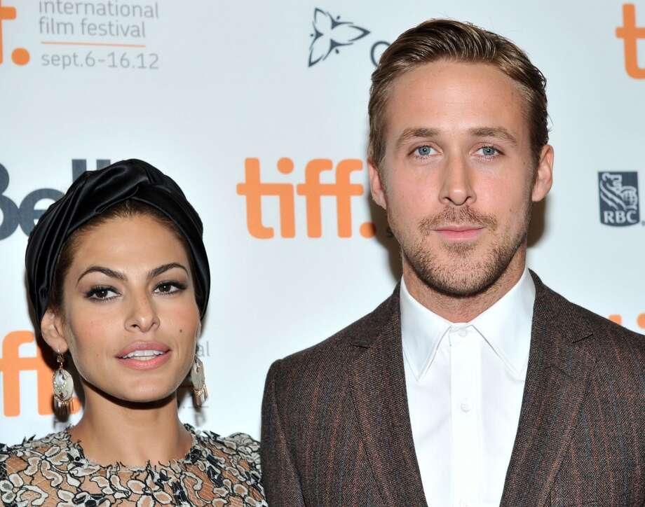"Are we seeing a trend? Eva Mendes and Ryan Gosling met while filming ""The Place Beyond The Pines."" The very private couple welcomed a baby in 2014. Photo: Sonia Recchia, Getty Images"
