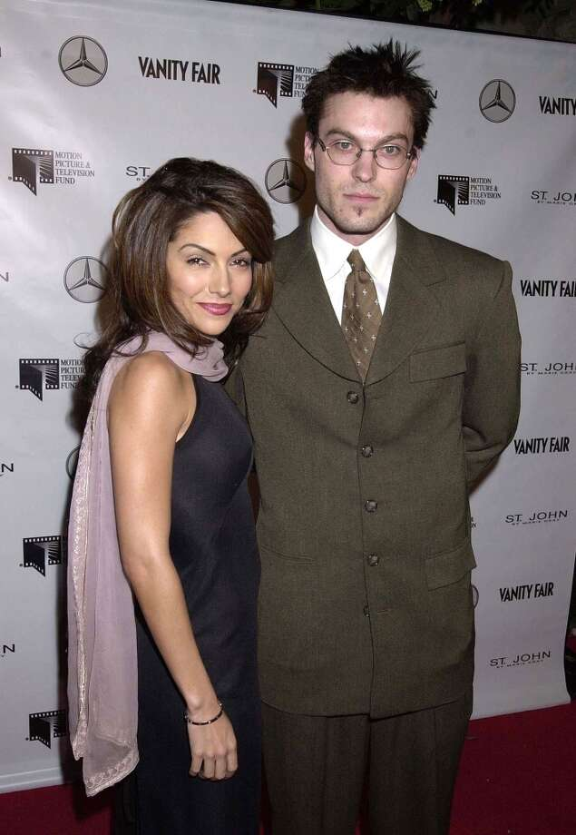 "Vanessa Marcil and  Brian Austin Green began dating on the set of ""Beverly Hills 90210."" They had a son together, but split in 2003. He's now married to Megan Fox. Photo: Gregg DeGuire, WireImage"