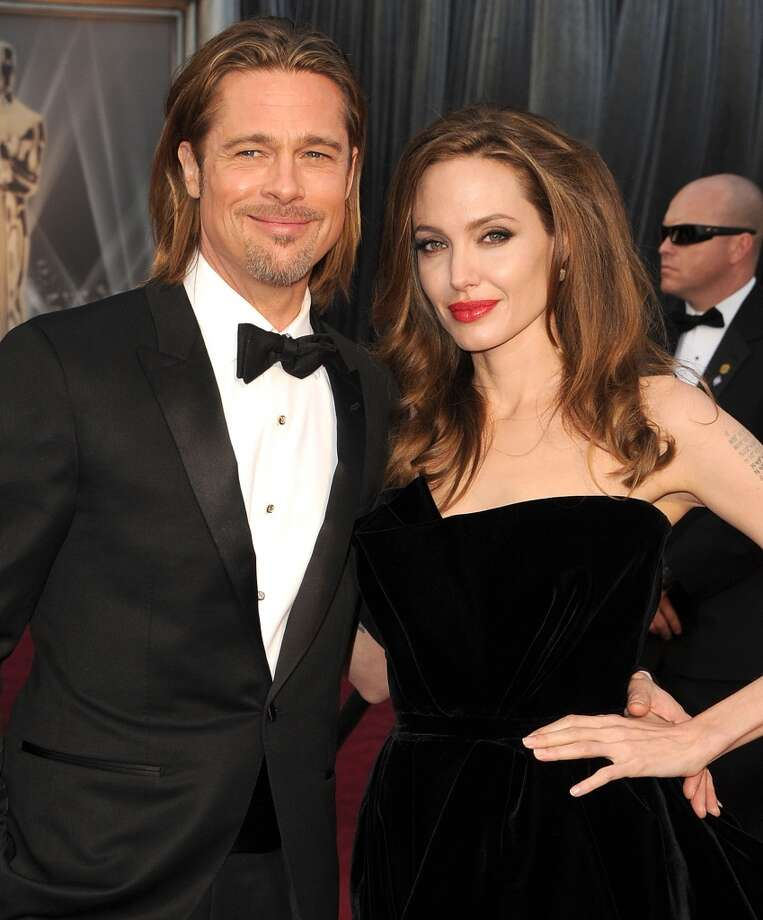 "Brad Pitt and Angelina Jolie met while on the set of ""Mr. and Mrs. Smith."" Pitt was married to Jennifer Aniston at the time, and Pitt and Jolie say they didn't start dating until after he was divorced. Photo: Steve Granitz, WireImage"