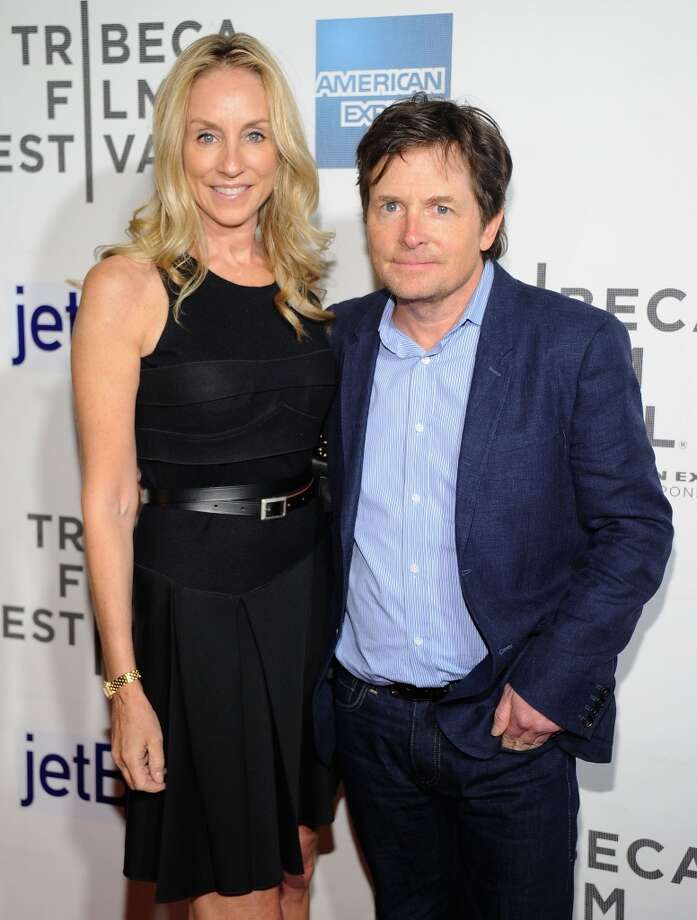 "Tracy Pollan and Michael J. Fox met on the set of NBC's ""Family Ties."" They married in 1988. Photo: Jamie McCarthy, WireImage"