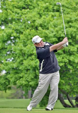 Noel Gebauer during the Challenge Cup, amateurs vs. pros, at Mohawk Golf Club in Niskayuna, NY Wednesday May 15, 2013.  (John Carl D'Annibale / Times Union) Photo: John Carl D'Annibale / 00022439A