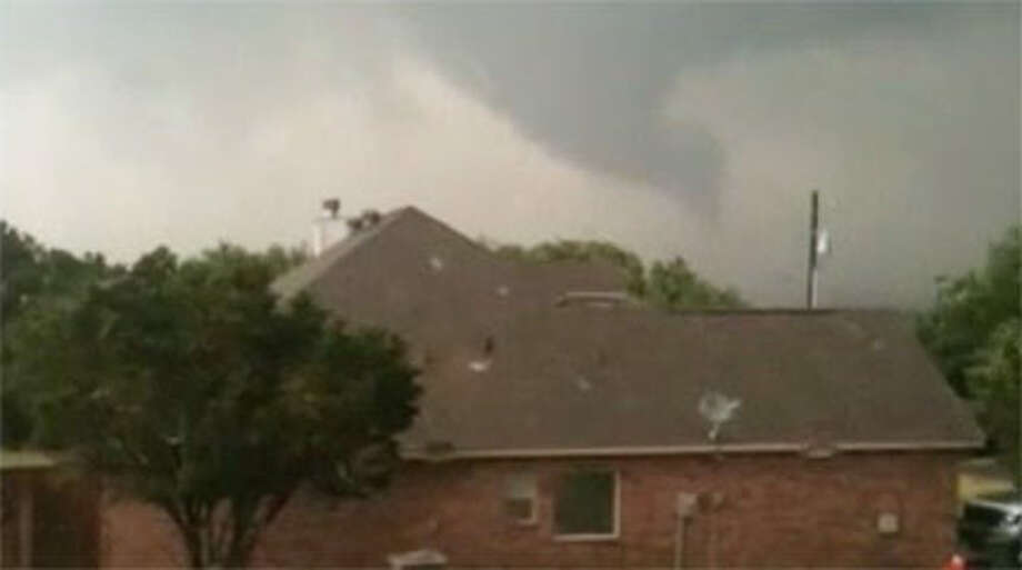 A tornado ripped through the Brazos River courthouse town of Granbury, Texas. Photo: Courtesy Of CBS