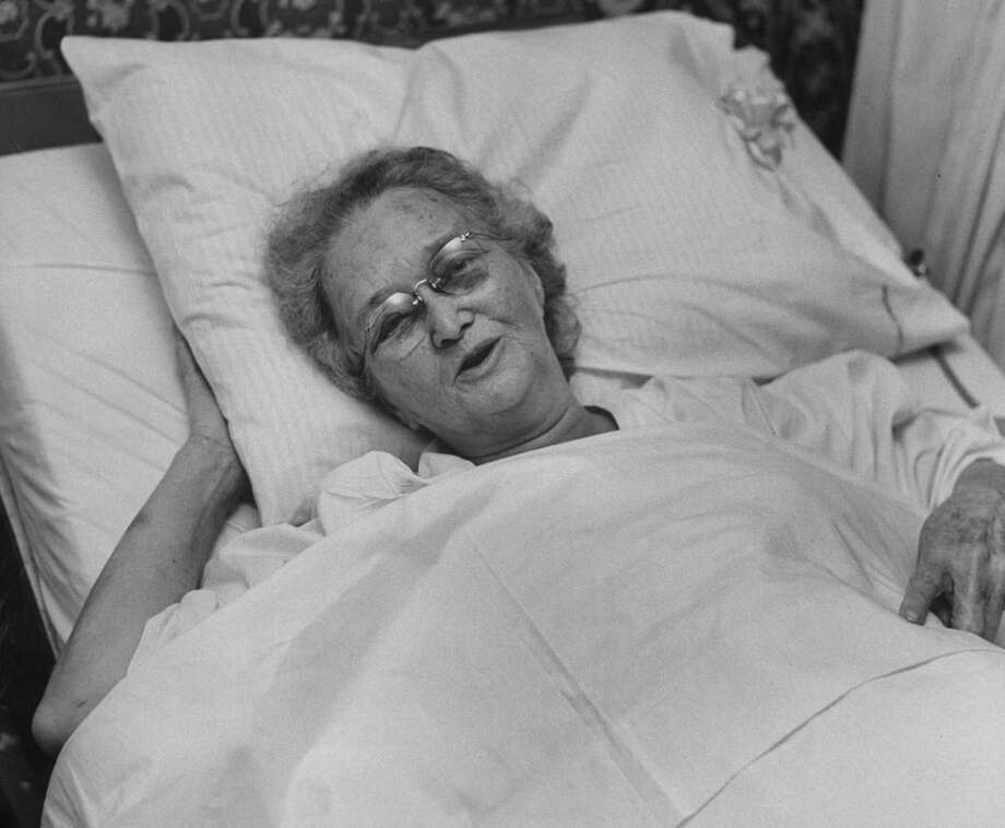 A survivor of the Waco tornado recovering in the hospital in May 1953. Photo: John Dominis, Time Life Pictures / Getty Images / Time Life Pictures