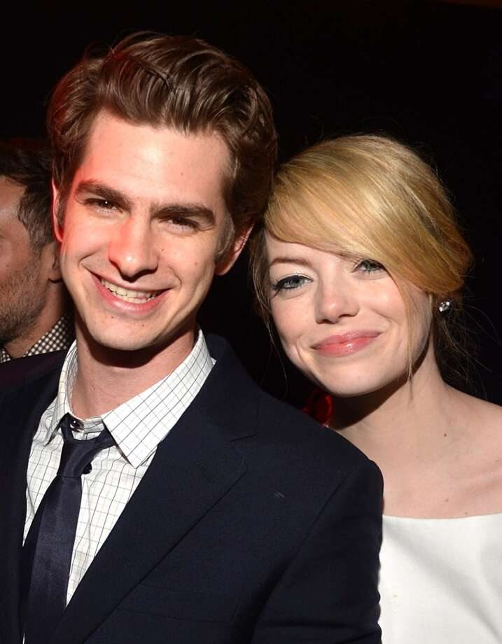 Andrew Garfield and Emma StoneAndrew Garfield and Emma Stone met while filming 'The Amazing Spiderman.' They are currently filming the sequel and are still together, though they are loath to discuss their relationship to the press. Photo: Lester Cohen, WireImage