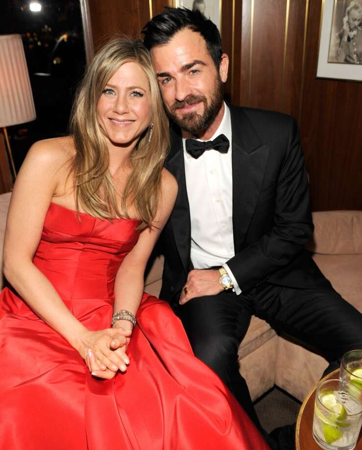 """Justin Theroux and Jennifer Aniston met while filming """"Wanderlust."""" Photo: Kevin Mazur/VF13, WireImage"""