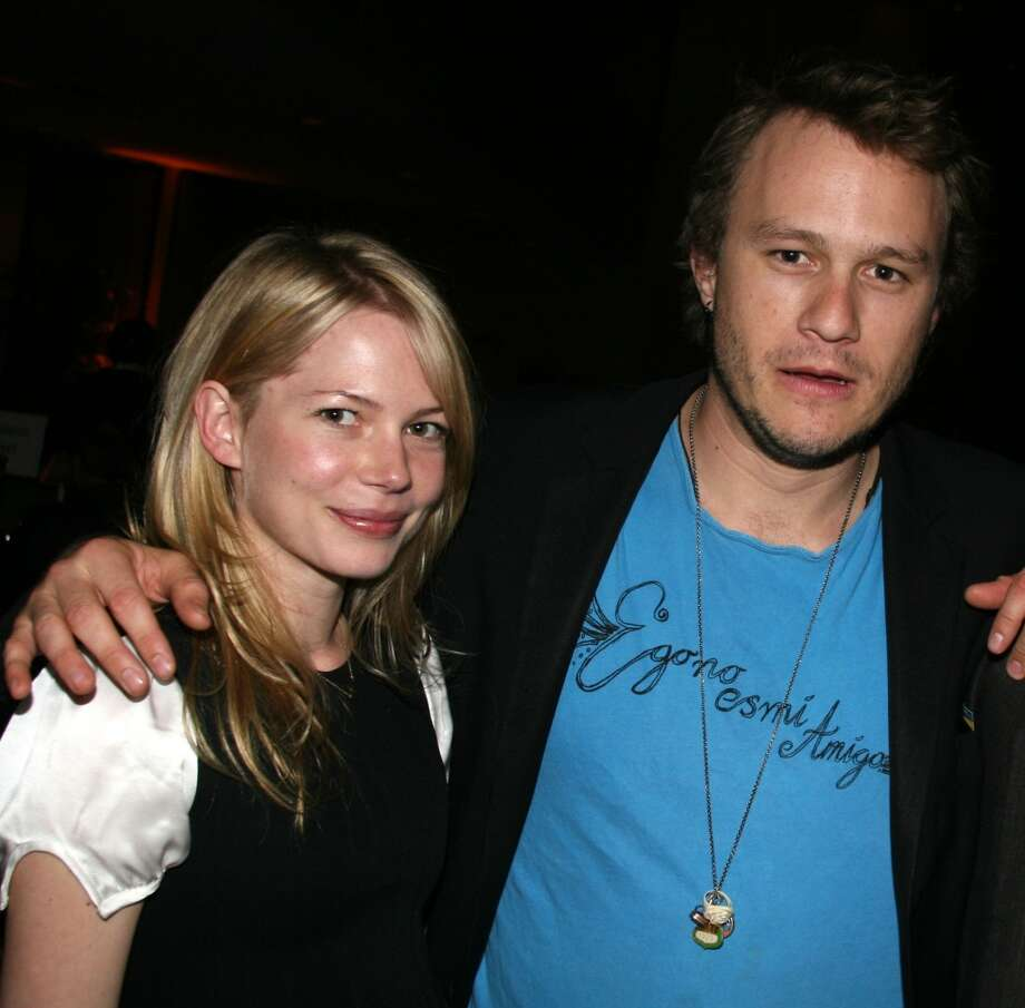 "Michelle Williams and Heath Ledger met on the set of ""Brokeback Mountain."" They had a daughter together in 2005, but split shortly before Ledger died in 2008. Photo: Bruce Glikas, FilmMagic"
