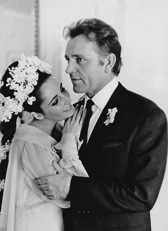 "Going back a few years. Elizabeth Taylor  and Richard Burton infamously met on the set of the cinematic debacle ""Cleopatra."" They married and divorce each other twice. Photo: William Lovelace, Getty Images"