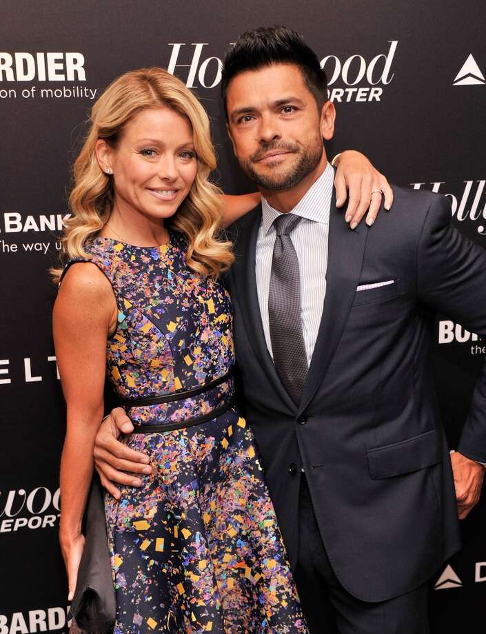 "Talk show host Kelly Ripa and actor Mark Consuelos met while they were both actors on the now-defunct soap ""All My Children."" They married in 1996. Photo: Stephen Lovekin, Getty Images"