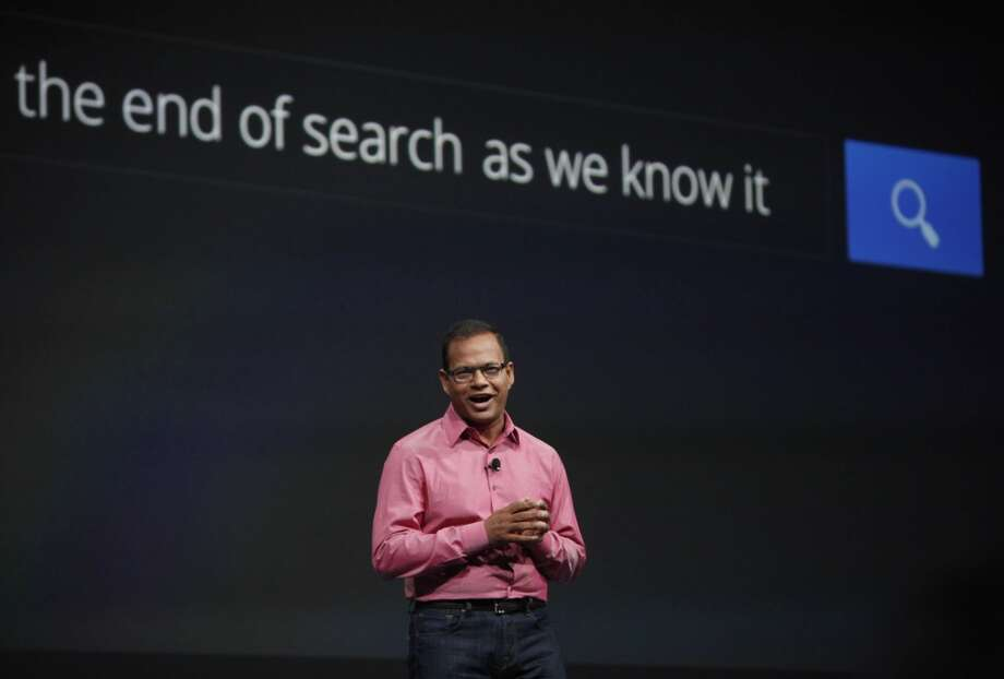 Amit Singhal, senior vice president and software engineer at Google, speaks at Google I/O 2013 at  Moscone West on Wednesday, May 15, 2013 in San Francisco, Calif.