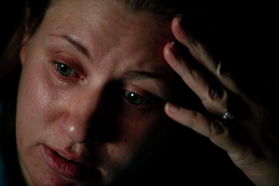 Anna Moore talks about the sexual assault she endured in the Army. Photo: Lisa Krantz / San Antonio Express-News