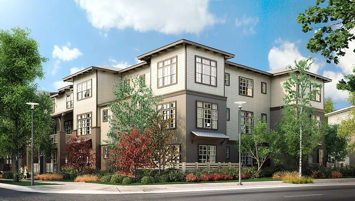 This digital rendering shows the Landsdowne neighborhood, which is under construction by Shea Homes.