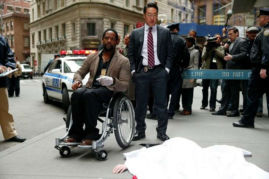 IRONSIDE -- Pilot -- Pictured: (l-r) Blair Underwood as Robert Ironside, Kenneth Choi as Ed -- Photo: NBC, Will Hart/NBC / 2013 NBCUniversal Media, LLC.