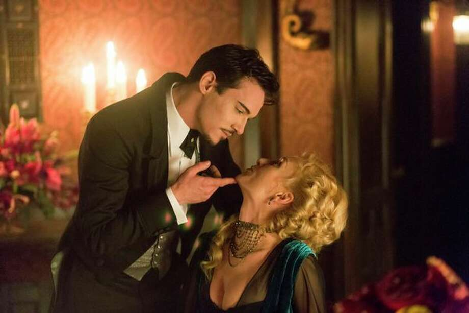 DRACULA -- Episode 2 -- Pictured: (l-r) Jonathan Rhys Meyers as Alexander Grayson, Victoria Smurfit as Lady Jayne Wetherby -- Photo: NBC, Jonathon Hession/NBC / 2013 NBCUniversal Media, LLC
